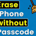how to wipe iPhone without passcode